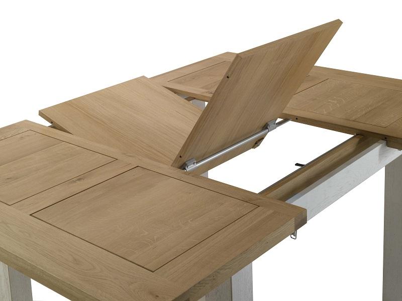 Table carr e whitney lo c gr aume les meubles du roumois for Table bois carree extensible