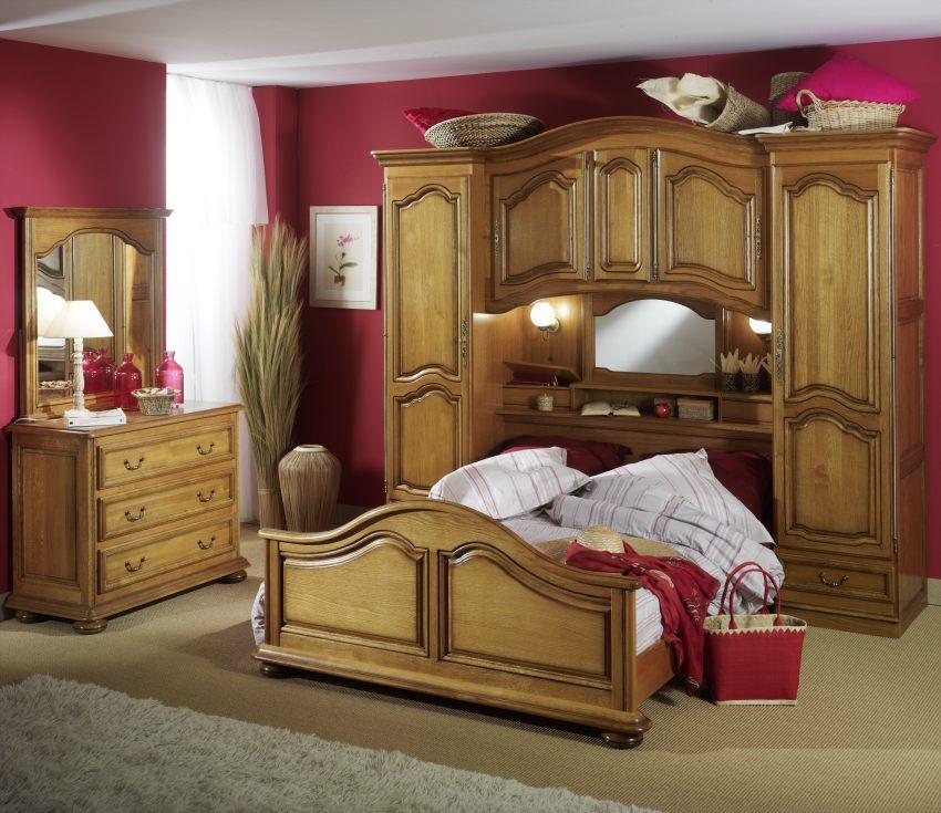 Chambre lub ron lo c gr aume les meubles du roumois - Chambre complete en bois massif ...