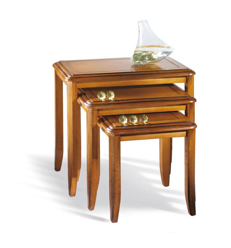 Table gigognes cheverny lo c gr aume les meubles du - Les tables gigognes ...