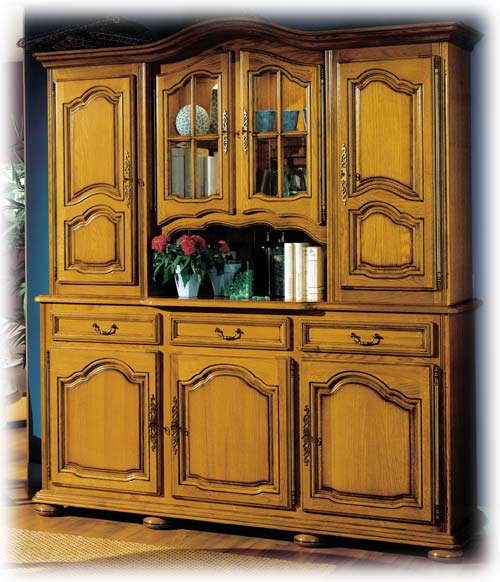 Buffet 2 corps 3 portes 3 tiroirs lo c gr aume les for Living meuble salle manger