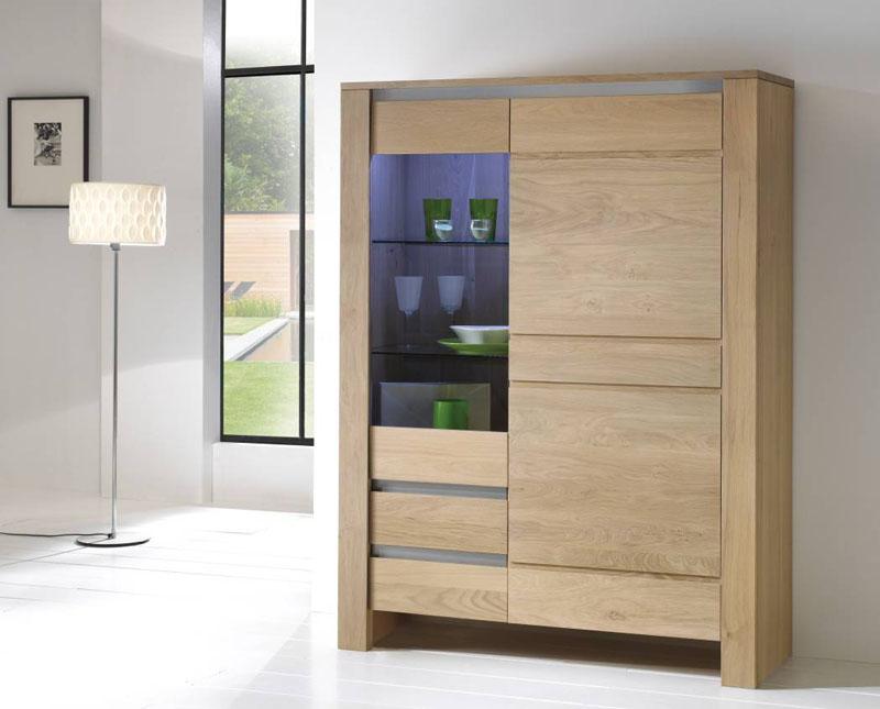 Biblioth que 1 porte vitr e lo c gr aume les meubles - Porte vitree pour meuble ...