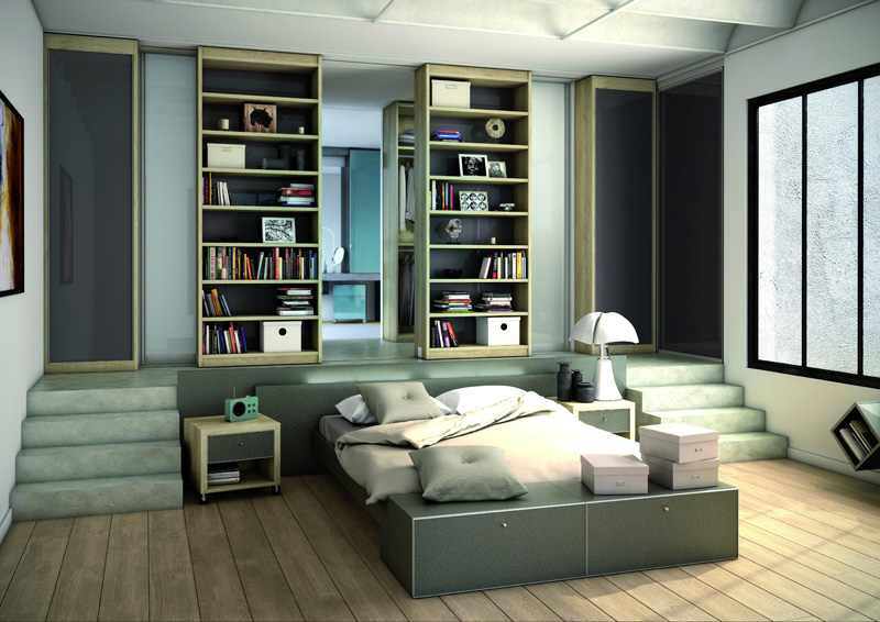 chambre lo c gr aume les meubles du roumois. Black Bedroom Furniture Sets. Home Design Ideas