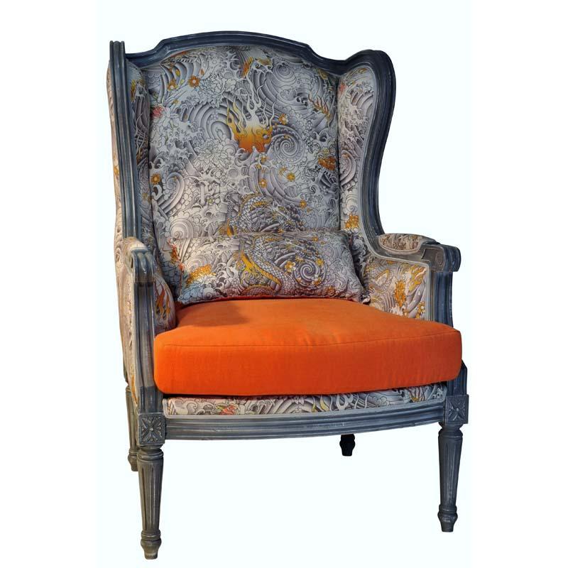 Berg re et fauteuil alice lo c gr aume les meubles du for Canape jean paul gaultier